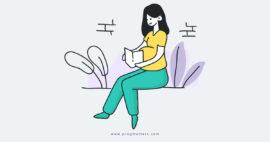 Pregnant Reading Book