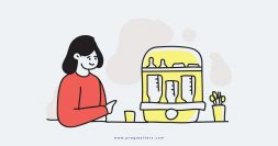 Mother With Bottle Sterilizer